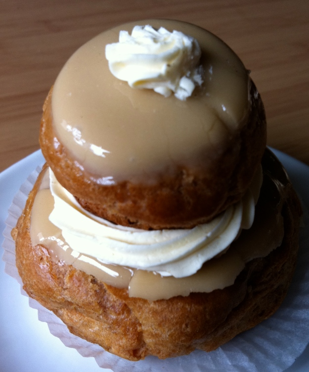 a coffee religieuse from my local bakery
