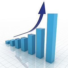 bar graph up arrow