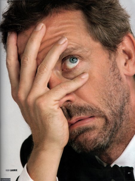 Who knew that Hugh Laurie was at the Prefecture yesterday, too?