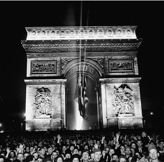 V-E Day in Paris, May 8, 1945
