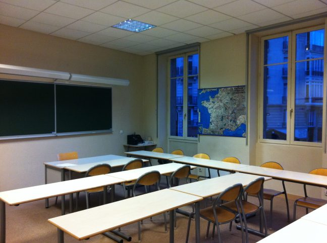 The classroom where I spent two semesters with Monsieur Carlier. Yes, I was there this morning before sunrise. ©2012 Samuel Michael Bell, all rights reserved