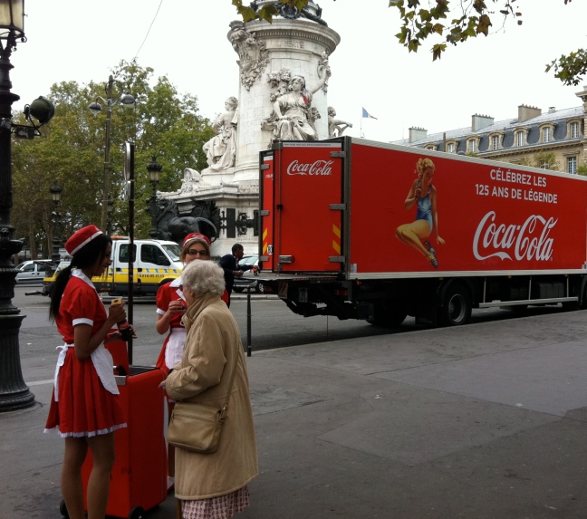 Celebrating 125 years of Coca-Cola in Place de la République last fall © 2012 Samuel Michael Bell, all rights reserved