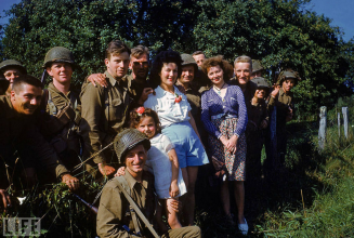 Northern France, summer 1944. © Life