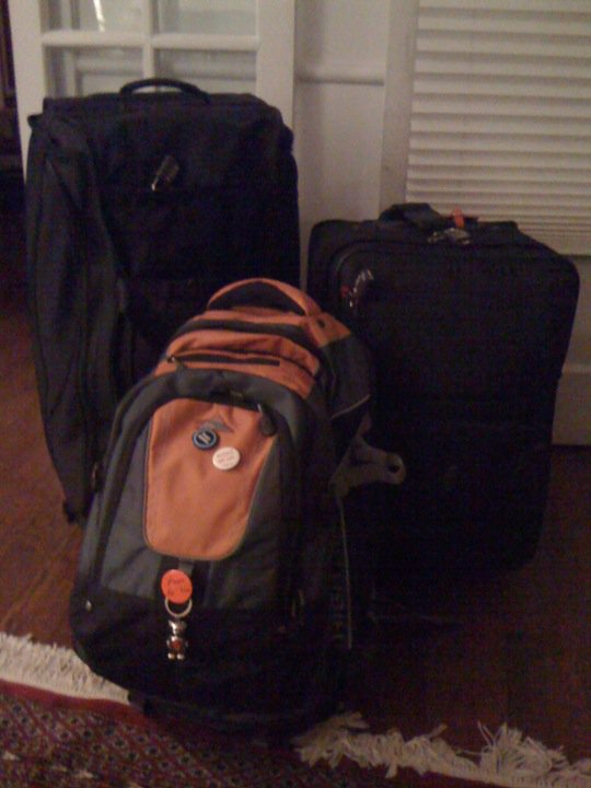 That's what 130 pounds of luggage looks like. © 2012 Samuel Michael Bell, all rights reserved
