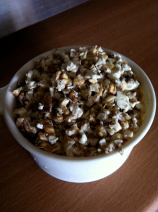 A cup of chopped walnuts © 2012 Samuel Michael Bell, all rights reserved