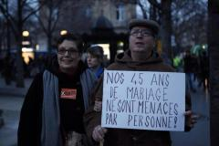 """I'm a fan of Monsieur and Madame Inconnu: """"Our 45 years of marriage aren't threatened by anyone!"""""""