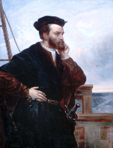 Jacques Cartier, by  Théophile Hamel