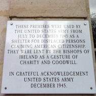 Plaque expressing the gratitude of the American Army, 1945