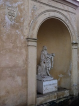The pietà in the courtyard