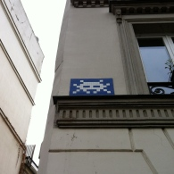 "The famous ""Space Invader"""