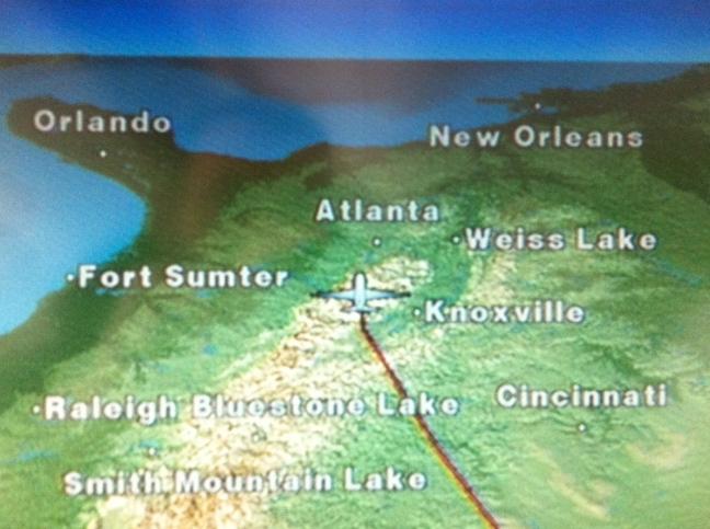 The final approach over the Appalachians ... just like a ninja!
