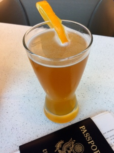Blue Moon with an orange slice ... just what I needed!