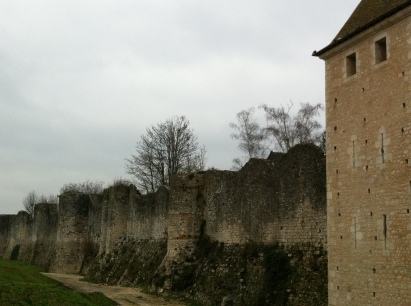 The walls of the medieval city of Provins