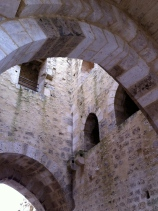 Inside the gate tower
