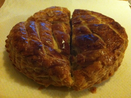 This year's galette des rois ... with no fève! That just means there will be more to come.