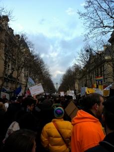 Approaching Place de la Bastille, along boulevard Henri IV