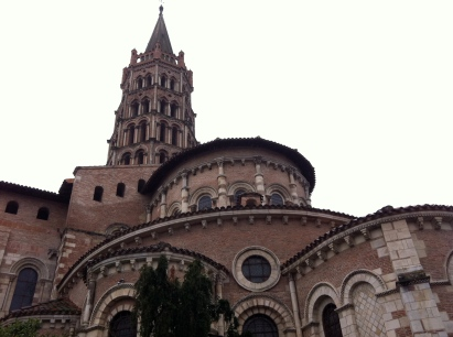 La Basilique St-Sernin, named after Saint Saturnin, the first bishop of Toulouse (martyred in AD 250), constructed c. 1080-1120 on the site of a 4th century basilica