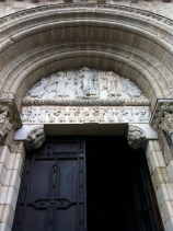 The Miègeville Door and its tympanum showing the Ascension of Jesus, La Basilique St-Sernin