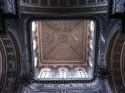 Above the high altar of the Church of Saint Peter of the Carthusians (religious order of enclosed monastics)