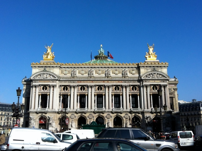 Le Palais Garnier, at Place de l'Opéra © 2013 Samuel Michael Bell, all rights reserved