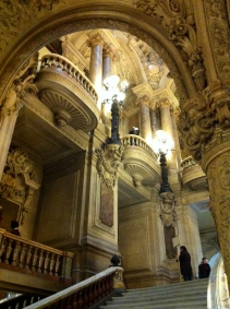 One of the staircases leading from the visitors' entrance to the Grand Staircase