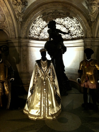 Costumes used in a production of a Verdi opera (I've already forgotten which one.)