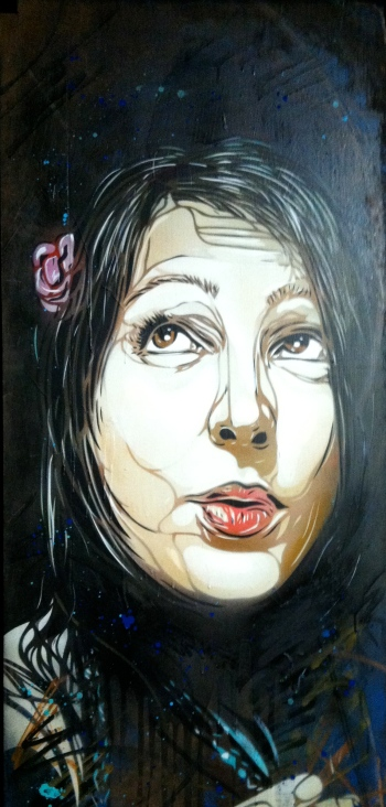 C215. Marlène. Stencil and acrylic on wood. 2012. Artist's collection.