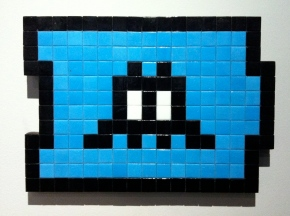 Invader. Alias NY_117. Mosaic on plexiglass. 2011. Collection of N Guéron.