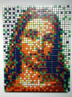 Invader. Rubik Little Jesus. Rubik's Cubes. 2008. Collection of N Guéron.