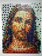 Invader. Rubik Little Jesus. Rubik's Cubes. 2008. Collection of N Guéron.