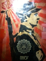 Fairey, Shepard. Rose Soldier. Stencil on paper collage. 2006. Private collection.
