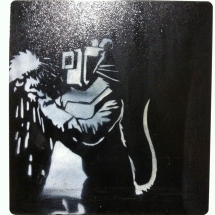 Banksy. Welder Rat. Stencil on metal. 2006. Collection of N Laugero Lasserre.