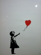 Banksy. Girl with balloon. Serigraph. 2003. Collection Butterfly.