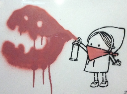 Dran. Rebelle. Stencil and spray paint on paper. 2011. Collection of Butterfly.