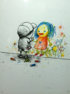 Dran. I love you. Serigraph and pastel on paper. 2011. Collection of Butterfly.