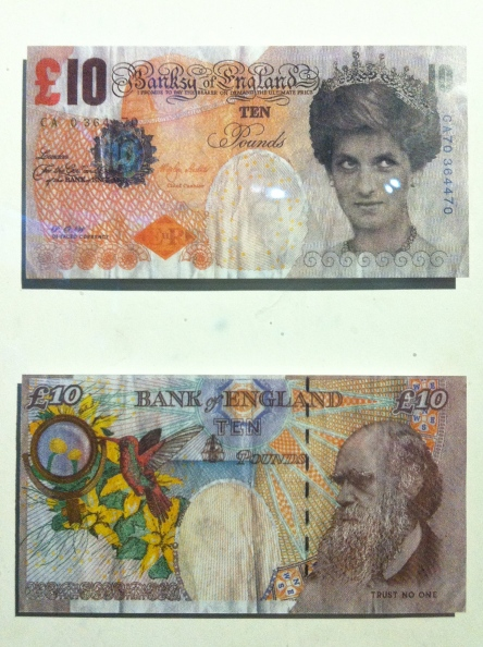 Banksy. Banksy of England, Ten Pounds. Serigraph (front and back). 2004. Private collection.
