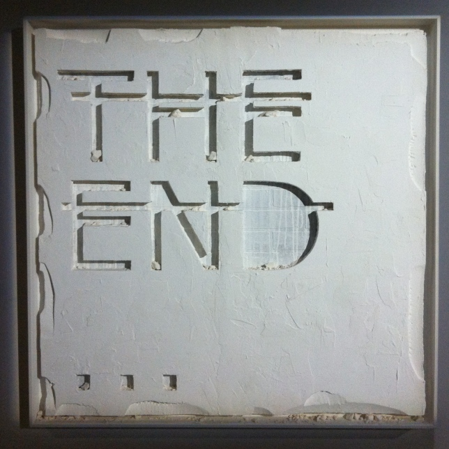 Rero. Untitled (THE END...) (detail). Mixed media. 2012. Private collection, courtesy of Backslash Gallery.