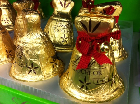 Chocolate bells instead of bunnies at the local supermarket. © 2013 Samuel Michael Bell, all rights reserved
