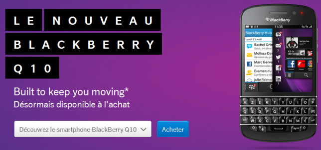 Another BlackBerry ad, this one online. I'm sorry I didn't catch this translation either. Next time.