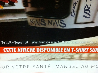 ... because you get equally nonsensical French.
