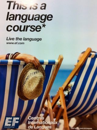 Even for English language courses ...