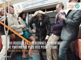 """He who shoves five people to get on won't leave any faster for it."" © RATP"