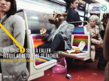 """""""He who soils a seat in going risks getting stained coming back."""" © RATP"""