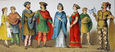 Frankish costumes, A.D. 400-600