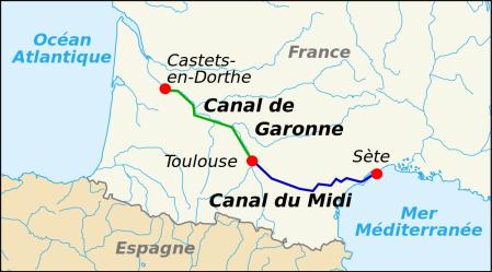 Carte Canal du Midi
