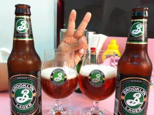 Brooklyn Lager at Happy Days Diner