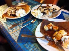 Dessert crêpes at our favorite little crêperie: Crêperie Saint-Germain