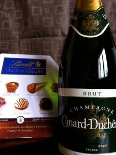"""June 26: Celebrating the """"end"""" of DOMA ... """"It may not be Jeff de Bruges and Veuve Clicquot, but there will still be no diet tonight!"""""""