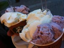 black cherry and yogurt ice cream from Amorino