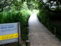 the boardwalk approach to Omaha Beach